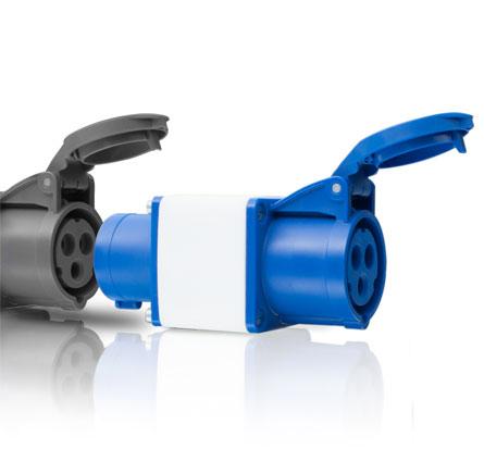 Draadloos stroombeheer voor campings - CEE stopcontact plug